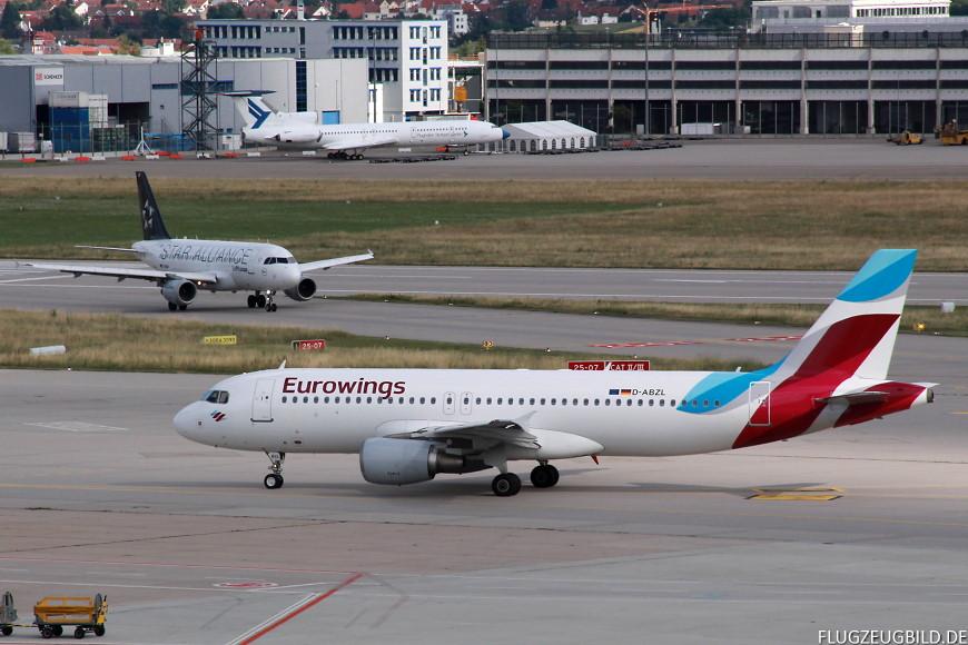 Airport Stuttgart / Airbus A320 Eurowings / Airbus A319 Lufthansa // Juli 2017